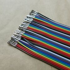 40pcs 50cm Dupont Jumper Cable Wire Female-Female Pin Connector 2.54mm Kabel DIY