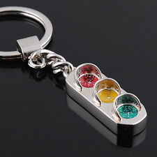 Mini 3D Metall Ampel Auto Schlüsselanhänger Schlüsselring Keychain Geschenk