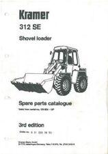 KRAMER ALLRAD WHEEL SHOVEL LOADER 312SE, 312 SE PARTS MANUAL - 3rd Edition