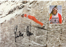 Sauvetage Günther top AK original signé-saut à ski +a31410