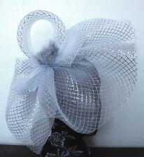 Fascinator de la sombrerería Burlesque Diadema Boda De Plata Sombrero hair piece Ascot carrera