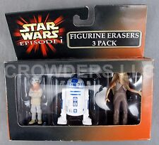 Star Wars Episode 1 Figurine Erasers 3 Pack Anakin Skywalker R2D2 Jar Jar Binks