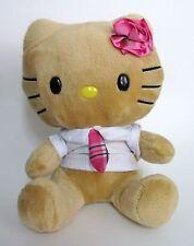 Hello Kitty Retired Plush Rose Tan Tropical Shirt & Tie Smallfry 2012 Build Bear
