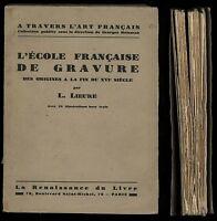 L'Ecole francaise de Gravure La Renaissance du Livre Lieure 24 illustrazioni