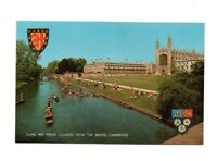 Cambridgeshire - Cambridge, Clare and King's Colleges from the Backs - Postcard