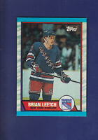 Brian Leetch RC HOF 1989-90 TOPPS Hockey #136 (MINT) New York Rangers