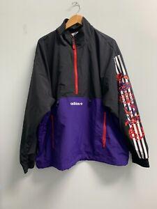 Adidas CNY Half-Zip Windbreaker Anorak Jacket SZ L Mens NO BAG IN FRONT!!