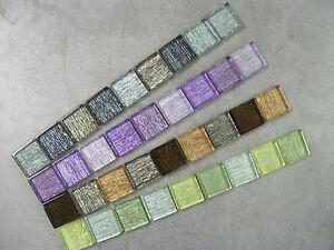 Silver Streak Glass Mosaic Border Tiles - 4 Colour Options - Various Pack Sizes