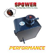 Universal Aluminum Radiator Coolant Overflow Tank Water Bottle Black 2.5L AU NEW
