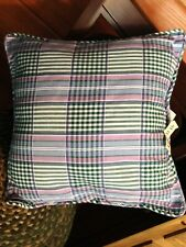 WAVERLY SWEET VIOLETS PLAID GARDEN ROOM PILLOW - NEW!