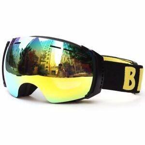 Benice Ski Goggles Big Spherical UV400 Anti-burst Double lens Anti-fog Eyewear