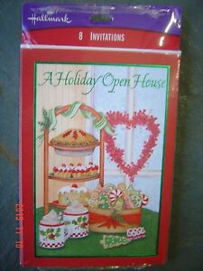 8 Ct Pack HOLIDAY Invitations PARTY Envelopes Hallmark Invitation Open House