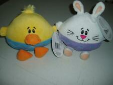 Easter Lot 2 Plush Carlton Card's Toy's Duck & Rabbit Peep's NEW