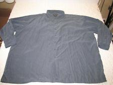 Alexander Lloyd 5X Big Tall Sueded Microfiber Long Sleeve Green Shirt Button