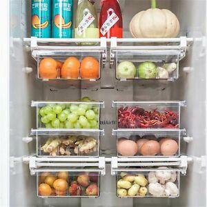 Kühlschrank Organizer Bins - Clear Kunststoff Pantry Fas Lebensmittel 1/4/8 Fäch