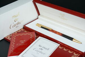 Cartier Ballpoint pen Trinity Vintage Rare Lacquer Tortoiseshell w/Box Rare #C26