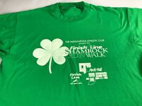 Shamrock Run Walk T-Shirt VTG 1996 Adult L/XL Indianapolis Indiana Finish Line
