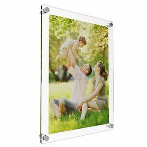 Acrylic Photo Frame Poster Wall Picture Holder Perspex Clear Display Gift  !NB