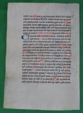 C. 1450 médiéval manuscrit sur vélin, Chartreux Livre de prières