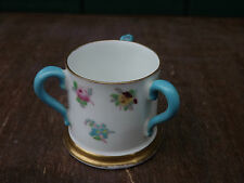 Vintage Crown Staffordshire miniature floral 3 handles Trig Super Item!