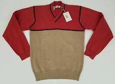 New GIORGIO ARMANI V Neck Cotton Sweater Size Small NWT