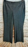 Marks & Spencer Ladies Womens Trousers Size 16 Grey Smart Tailored M&S