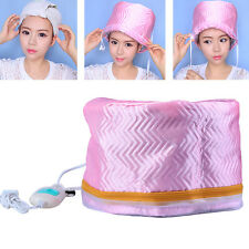 Electric Hair Thermal Treatment Beauty Steamer SPA Nourishing Hair Care Cap Pink