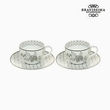 Conjunto de 2 Copas Café Porțelan blanco negro (2 piezas) por Bravissima Kitchen