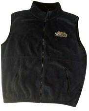 Sprouts Farmers Market Mens Fleece Vest Size XLarge Full Zip 2 Frt Pockets Blue