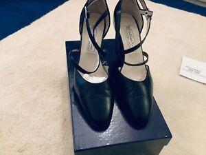 werner kern black patty dance shoes size 4.5  see full description below