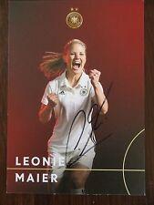 Handsignierte AK Autogrammkarte *LEONIE MAIER* DFB Frauen Deutschland EM 2017