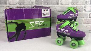 SFR Vision GT Quad Roller Skates Size UK 12J  EUR 30.5 Purple Green