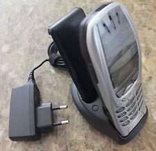 Nokia 6310i 6310 i Argento M. supporto di ricarica MERCEDES BMW AUDI COME NUOVO FRONT COVER B