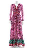 Saloni 'Ginny' Floral-Print Silk Maxi Dress / Multi / RRP: £725.00