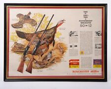 Vintage Winchester Featherweight Hunting Rifle 2-Page Color Magazine Ad Framed