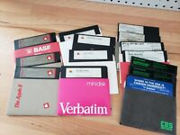 Vintage Apple II Software and Games --LOT of 15 Disks, OEM Apple II Logo II