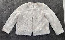 Cream Fluffy Jacket Coat Size 20