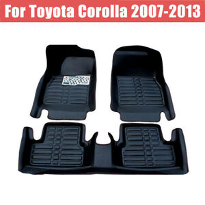 Car Floor Mats for Toyota Tundra Ⅱ 2007-2013 Custom Leather mat Full Surrounded Cargo Liner All Weather Protection Waterpoof Non-Slip Set Left Drive Red