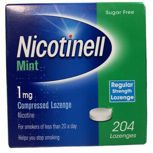 Nicotinell Mint 1mg Compressed Lozenge - 204 Lozenges Helps You Stop Smoking