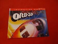 Orb 3D Nintendo NES Instruction Manual Booklet ONLY