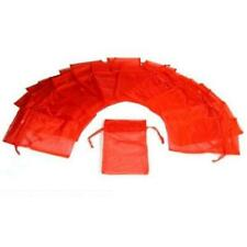 24 Red Organza Drawstring Jewelry Pouches 5