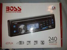 Boss 637Ua Nib In-Dash Car Receiver/Radio/Cd/Mp3/Am/ Usb/Aux Player 4 Speakers