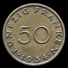 50 FRANKEN 1954 SARRE / SAARLAND