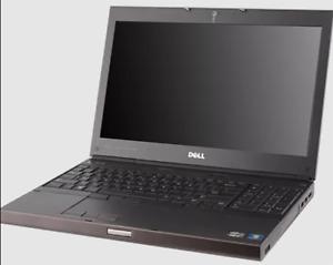 """Dell Precision M4600 15"""" Laptop: Core i7-2920XM, 12GB RAM, 128GB SSD, WINDOWS 11"""
