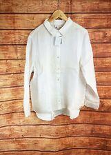 New J Jill White Linen Big Shirt - All Sizes