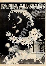 Fania All-Stars Billy Cobham Ray Baretto ILPS 9331 MM5 LP Advert 1975