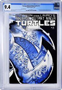 Teenage Mutant Ninja Turtles #2 ~ CGC 9.4 WHITE~ 2nd Print Mirage Studios 1985 1