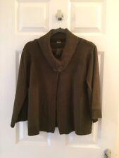 Ladies TU Khaki Green Cowl Neck Cardigan 3/4 Sleeves Size 12