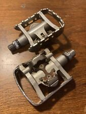 """Shimano PD-M324 SPD / Flat Hybrid Combo 9/16"""" Pedals Used"""