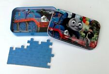 60 Pieces Wooden Jigsaw Puzzle Thomas Train In Box Drawing Best Gifts for Kids
